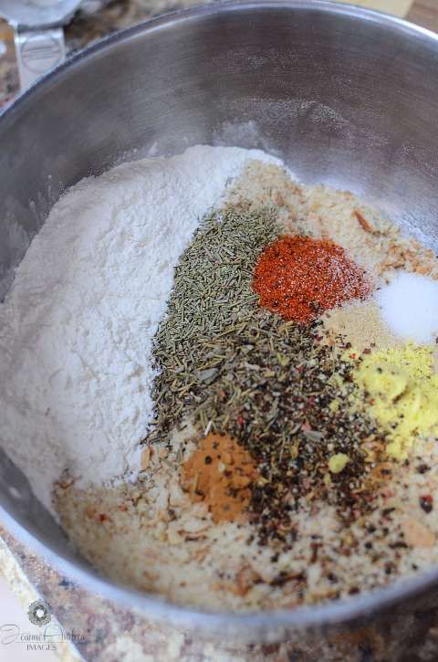 Making seasoned breadcrumbs is super easy and a great way to add an extra flavor coating do your tasty dishes!!