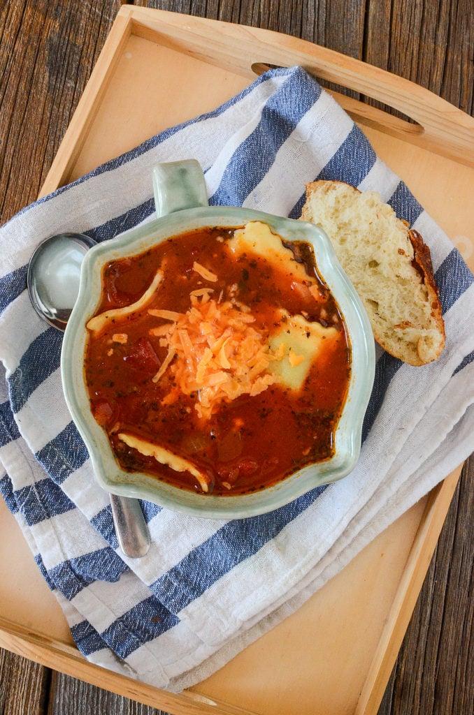 Amazing Ravioli Soup