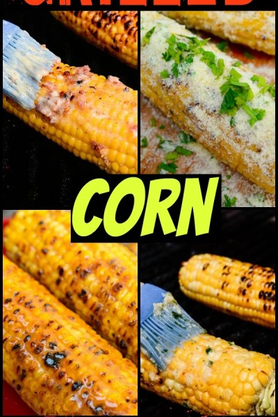 grilling corn on the cob 4 different ways