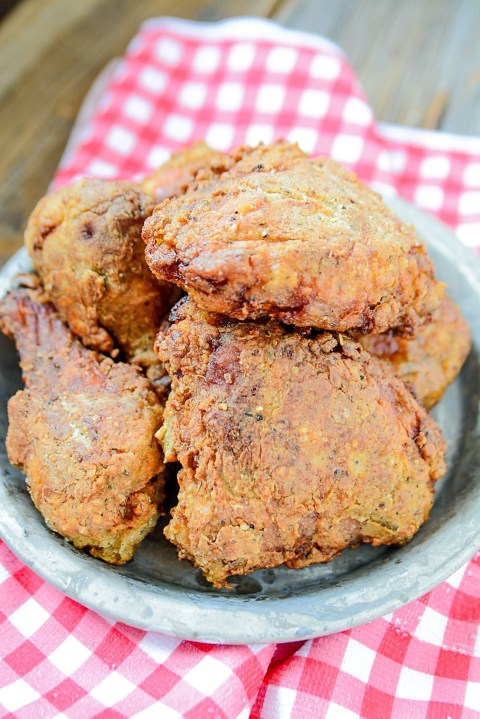 Using the juice from pickles, this super tasty pickle brined fried chicken is an absolute must for fried chicken night! It's crispy, savory and moist, you won't even give the kentucky brand another thought!