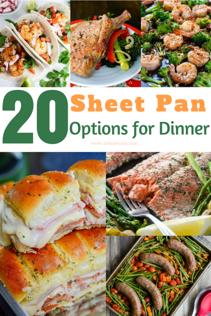 A collage of Sheet Pan Dinner Options.