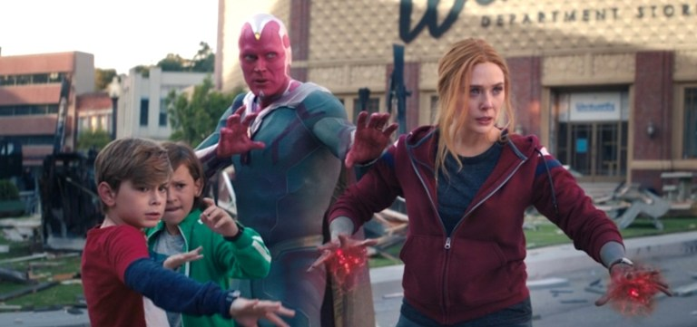 Wanda, Vision, and the boys prepare for battle