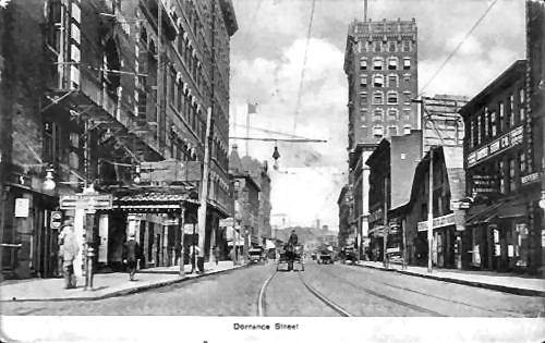 Rhode Island Post Cards Dorrance Street Providence