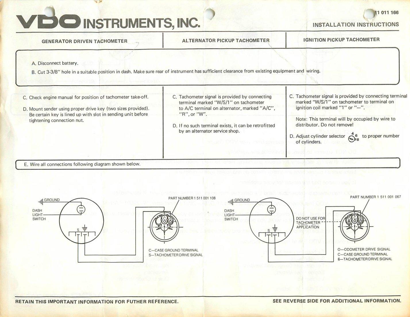 TheSamba.com :: VDO Tachometer