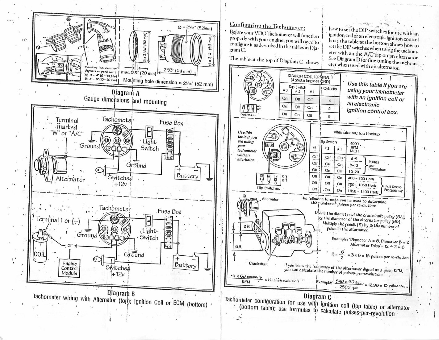 Harley Tach Wiring - Wiring Diagrams on