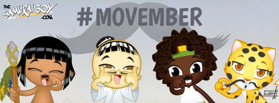 Join #Movember! - Samurai Boy