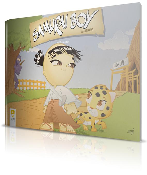 Capa Samurai Boy: A Jornada
