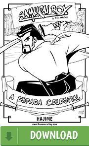 Arte para colorir - Samurai Boy: A Espada Celestial - Hajime