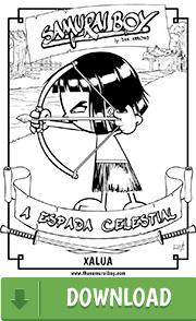 Arte para colorir - Samurai Boy: A Espada Celestial - Xalua