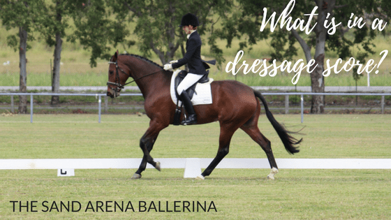 What is in a dressage score?