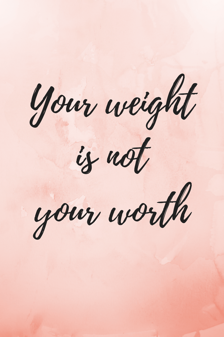 Your weight is not your worth - Body image story