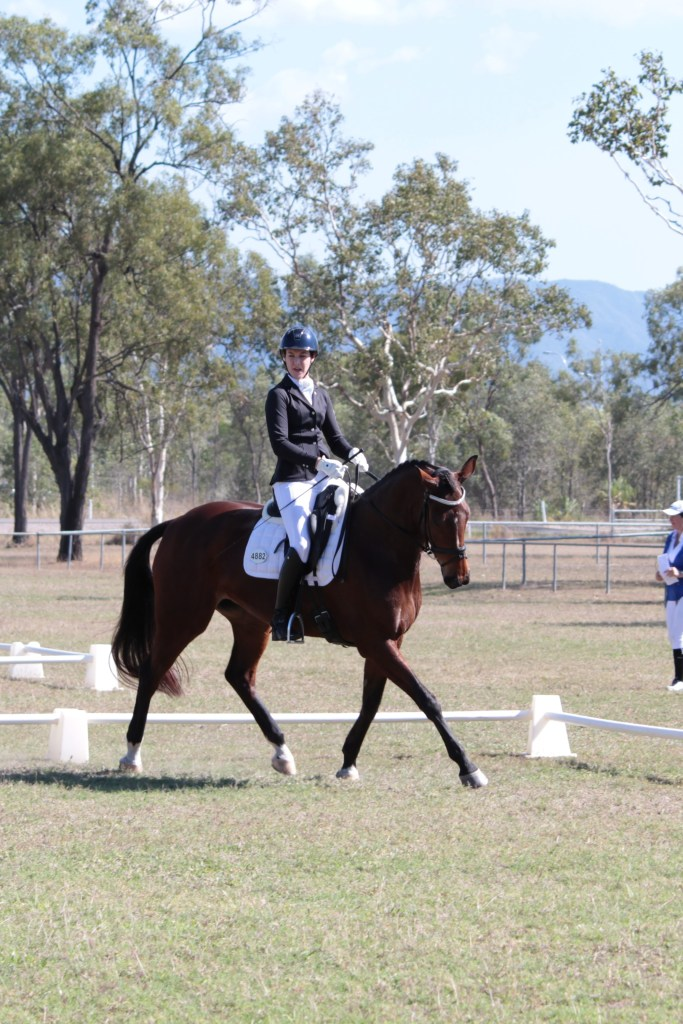 Using the corners in the test to set Nonie up for the lateral work was key to scoring our first score over 63% in medium