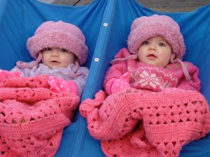 Maisy and Madison as children--unknown who is who.