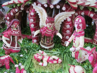 radish nativity scene detail