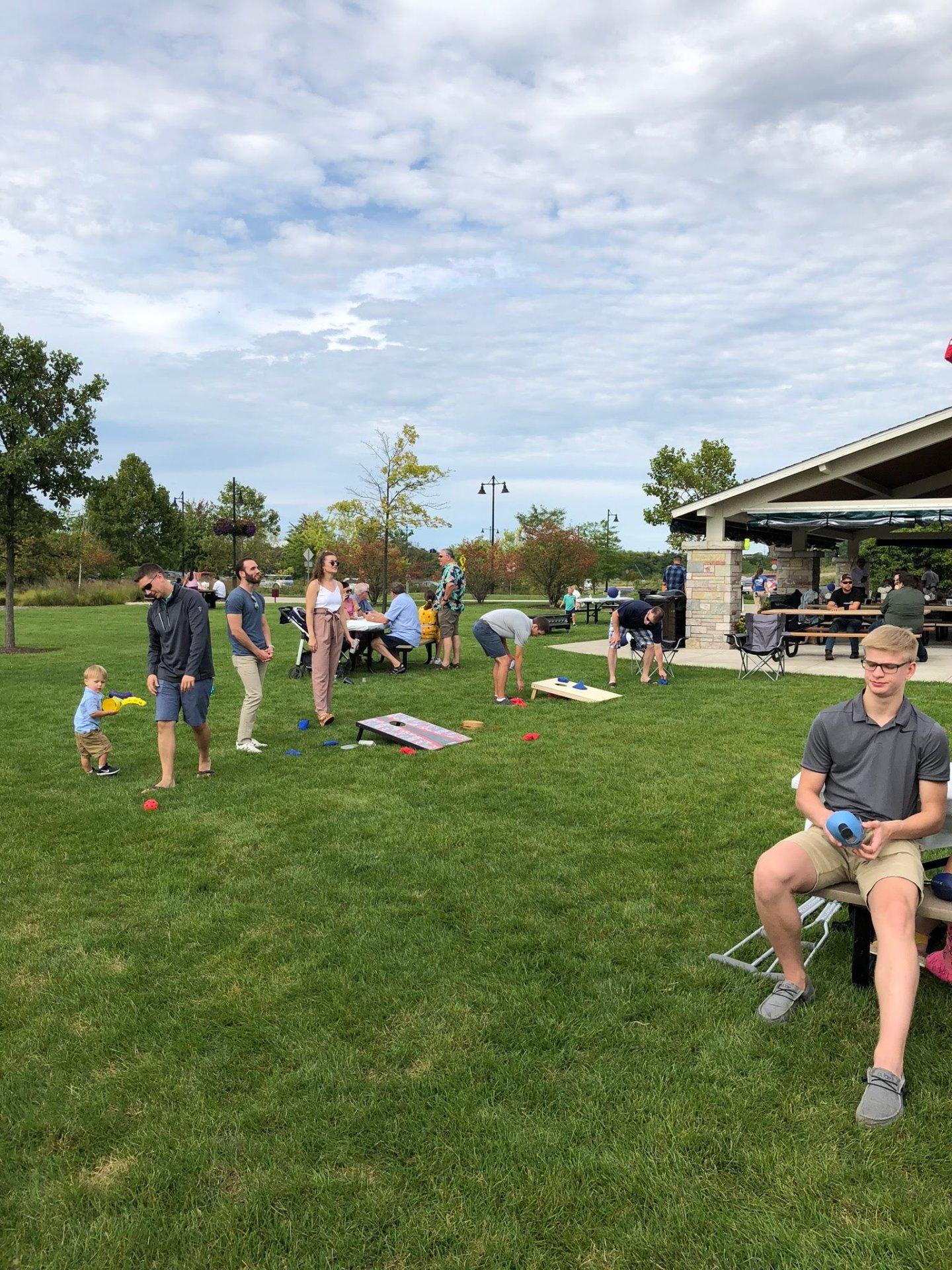 Yard Games at Wedding Reception