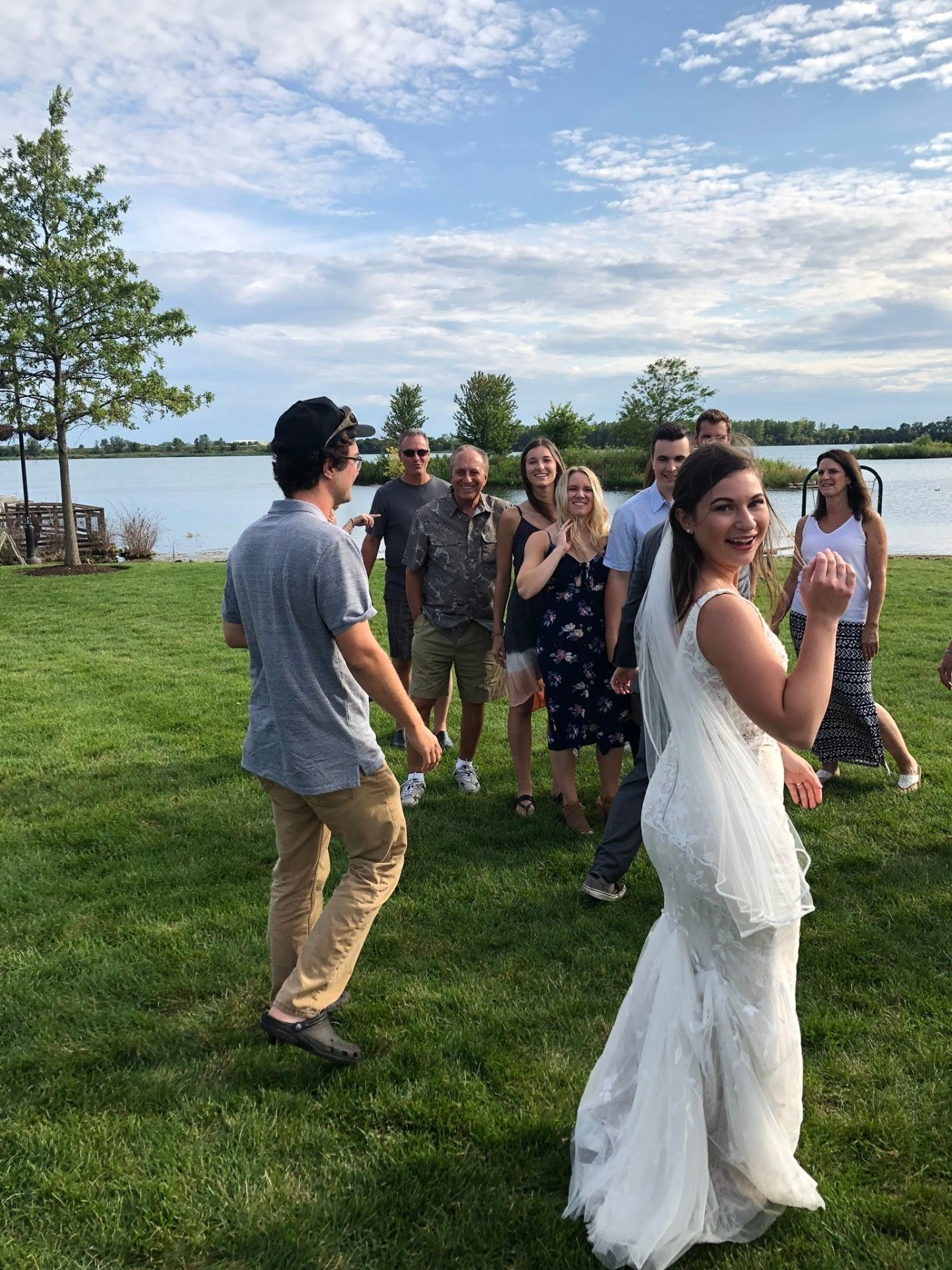 BBQ Relaxed Park Wedding in Crystal Lake Illinois