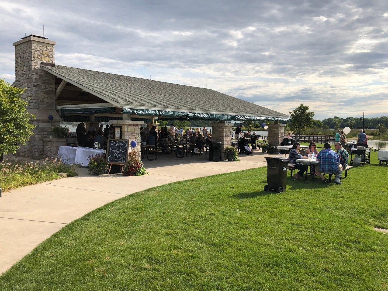 Wedding at Three Oaks Recreation in Crystal Lake, Illinois - Park Wedding