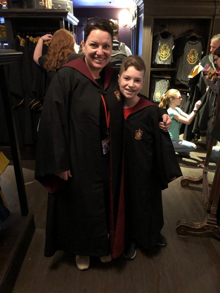 Oh yes we did! Brock had his robe from when he went with Grandad Curtis and Gammy Sue, but our first stop in Diagon Ally was the robe shop so I could get one to match.