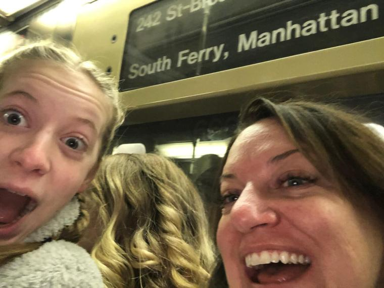 First Subway ride, there are always people touching you!