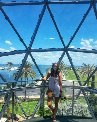 View from inside The Dali Museum
