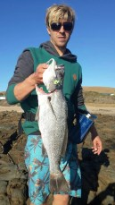 Simon fish and his first cast MYDO caught kob in The Transkei