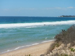 The literally private beach out front of Tofo Earth Lodge offers seclusion and safe bathing...and fish to catch!