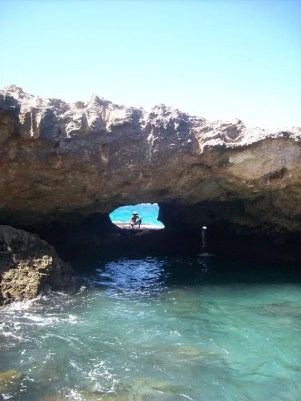 Caves you can swim right through!
