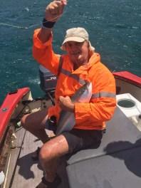 Transkei fishing. Brian Lange with yellowtail