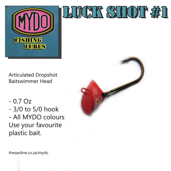 The MYDO Luck Shot #1 Dropshot Baitswimmer Head