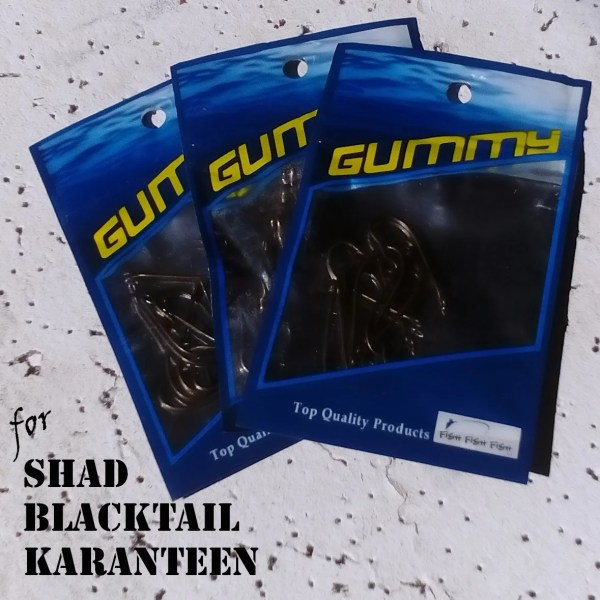Gummy Shad Hooks Karanteen Hooks and Blacktail hooks