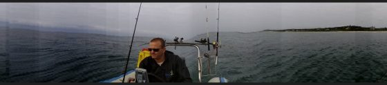 Captain Matt Wainwright scanning for tuna off Port Shepstone over the weekend
