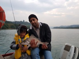 Hamza Jadwat and his take-home spotted grunter caught in the Umzimkulu Estuary 27 June 2017