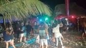 The Dread Bar in Tofo taking over the Rua da Alegra (Street of Joy)