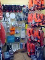 Life jackets and all the safety equipment you may need. Solid advice too.