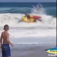 Surf launching is dangerous