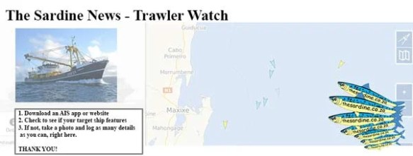 Suspected illegal fishing activity can be monitored on any AIS software. App or website, there are many to choose from.
