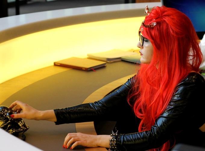 Me as Satans Receptionist.