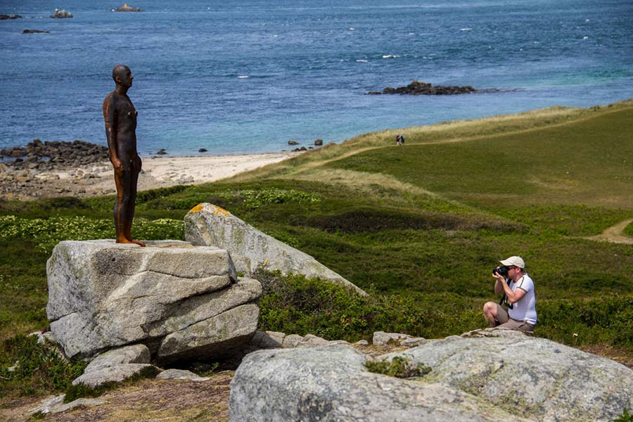 Anthony Gormley statue on Herm
