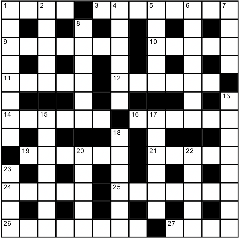 Channel Islands crossword grid