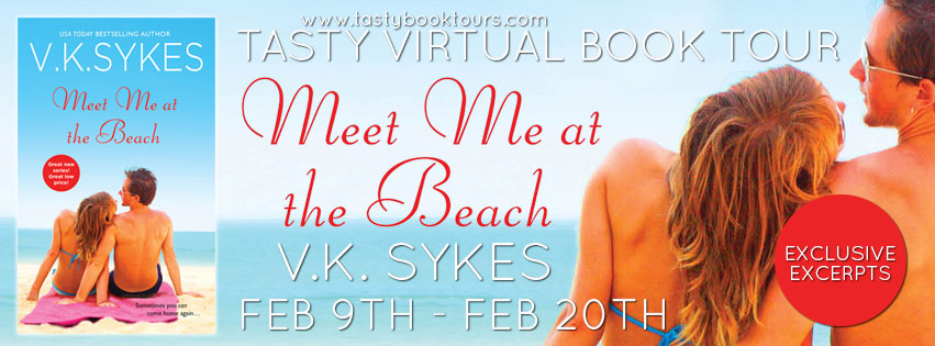 MEET ME AT THE BEACH by V.K. Sykes: Excerpt & Giveaway