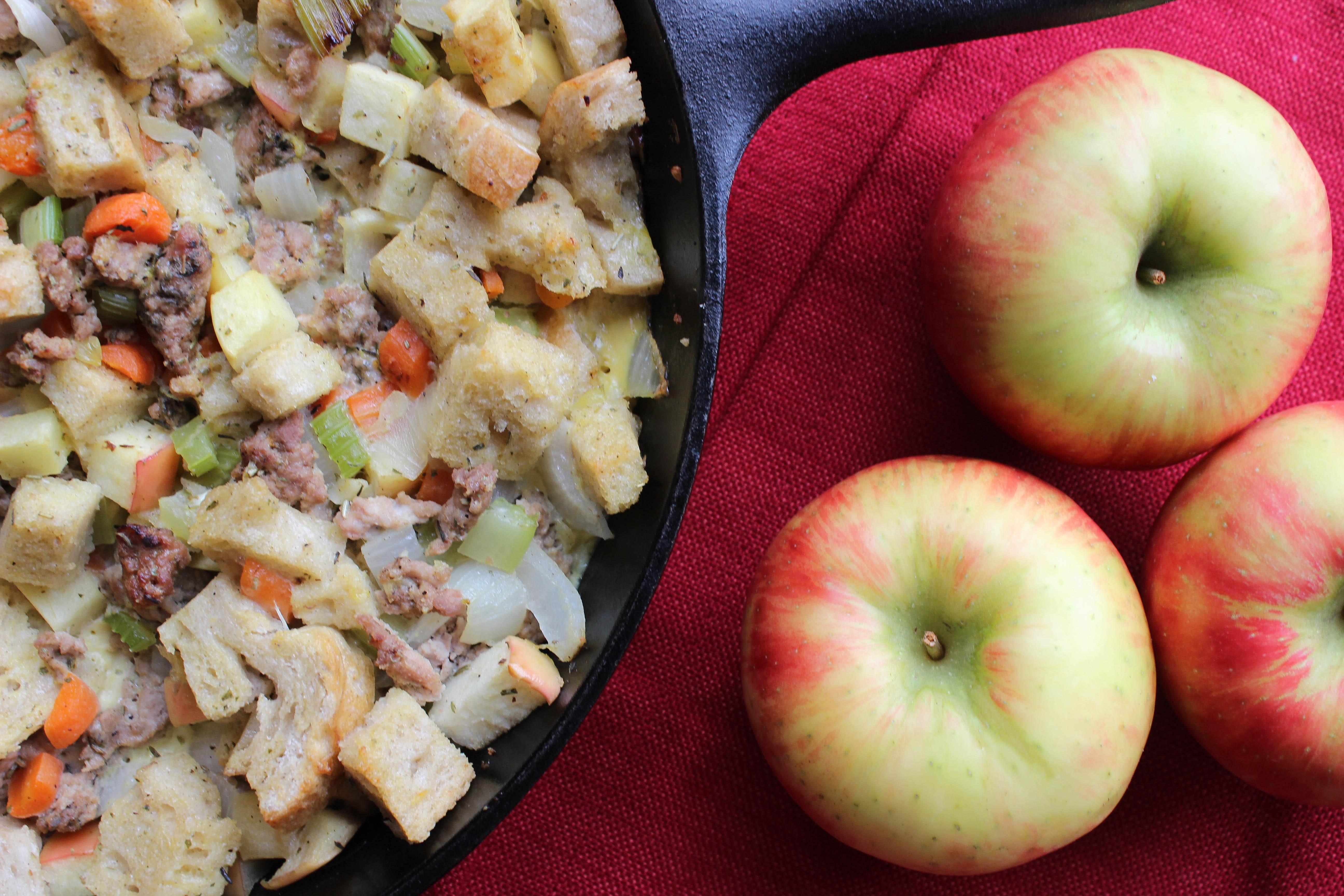 gluten free apple sausage stuffing