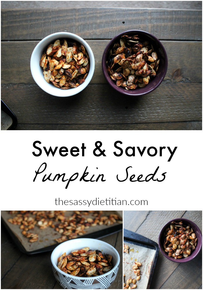 sweet & savory pumpkin seeds