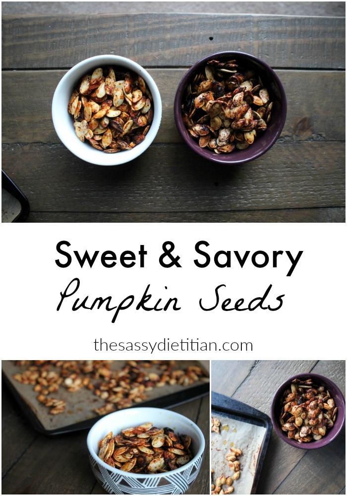 sweet & savory pumpkin seeds