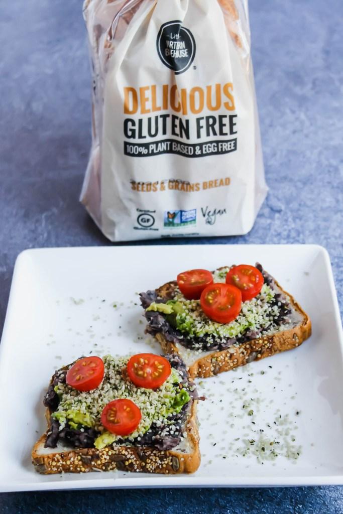 Black Bean Avocado Gluten-Free Toast