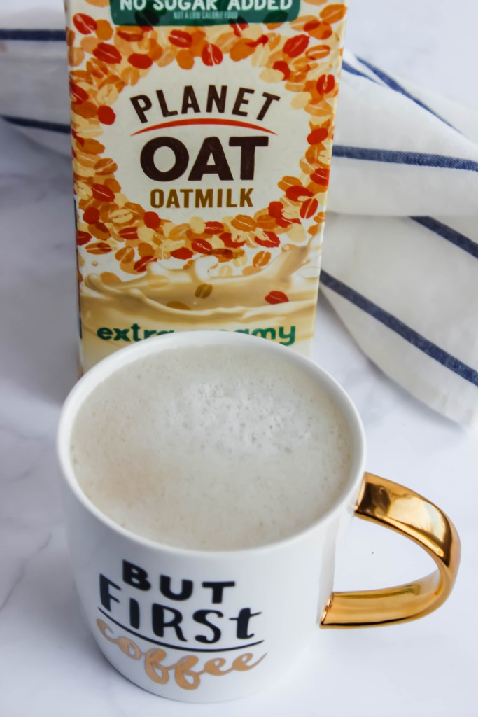 homemade oat milk latte