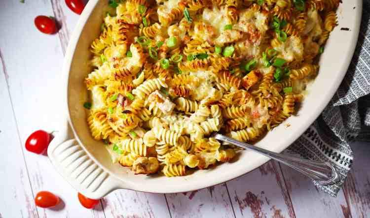 Pesto Chicken Bruschetta Pasta