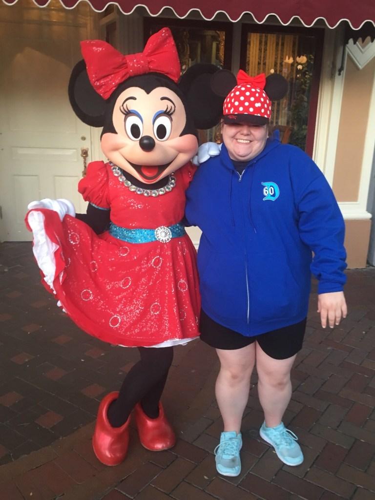 Minnie Mouse & Kayla at Disneyland