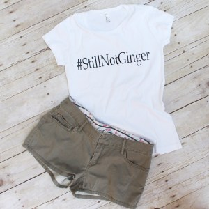 Doctor Who Still Not Ginger Hashtag TShirt $35