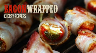 Bacon Wrapped Cherry Peppers