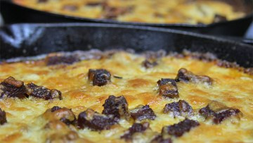 Three Cheese Chipotle Scalloped Potatoes with Brisket Recipe